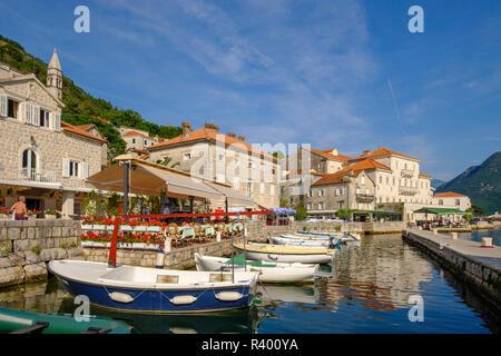 Porto, Perast e della Baia di Kotor, Montenegro Foto Stock