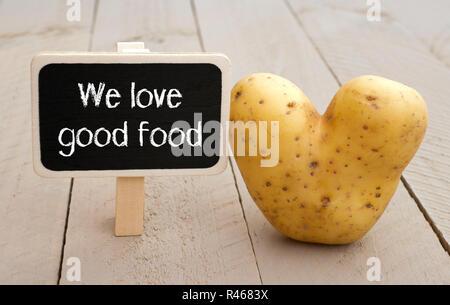 Noi amiamo il buon cibo Foto Stock