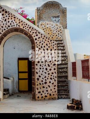 Vicoli, vicino alla santa chiesa di Panagia Platsani. Foto Stock