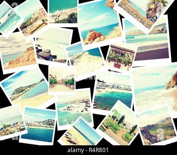 Mix di collage con le foto della vacanza Foto Stock