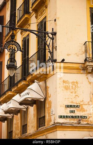Spagna, Andalusia Regione, Provincia di Malaga, Malaga, costruzione di dettaglio Foto Stock