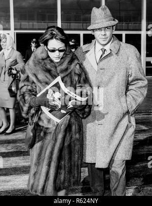 Renato salvatori e ANNIE GIRARDOT, Roma, 1961