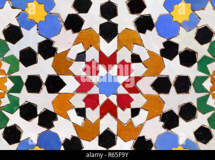 Arabo pattern islamico marocchino piastrelle ripetitivo star