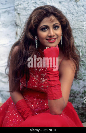 South Asian Indian bollywood hindi attrice cinematografica Shilpa Shetty n. MR Foto Stock