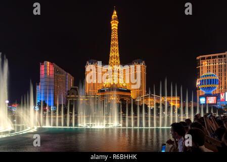 Las Vegas strip di notte