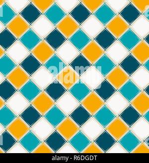 Seamless disegno geometrico. Semplice ornamento con rombi. Forme geometriche Foto Stock
