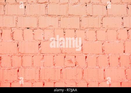 Dipinto di un muro di mattoni, colore alla moda, background urbano, lo spazio per il testo. Texture orizzontale. Abstract sfondo moderno
