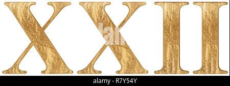 Numero Romano Xxii Duo Et Viginti 22 Ventidue Isolato Su Sfondo