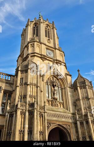 Tom Tower, Christ Church College di Oxford, England, Regno Unito Foto Stock