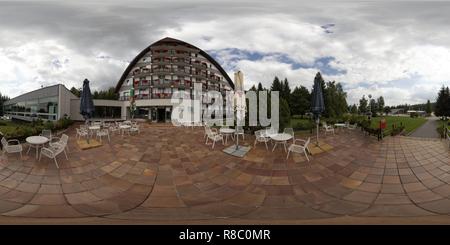 Hotel Ski in Nove Mesto na Morave, Repubblica Ceca Foto Stock