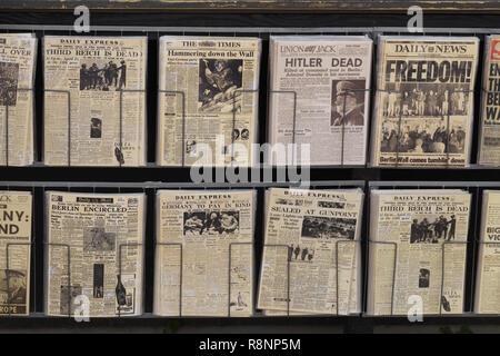 Quotidiani, guerra mondiale 11 Germania Foto Stock