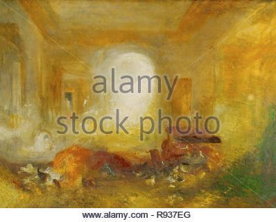 Interno a Petworth, Signore Egremont's country house. Olio su tela (1835) 35 x 48 pollici Inv. 1988. Autore: TURNER, JOSEPH MALLORD WILLIAM. Posizione: la Tate Gallery di Londra, Gran Bretagna. Foto Stock