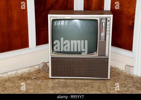 Televisione rétro Foto Stock
