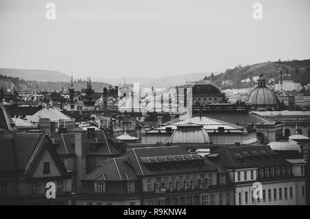 PRAGA, REPUBBLICA CECA - 26 ottobre 2018: Vista sulla città con 100 torri