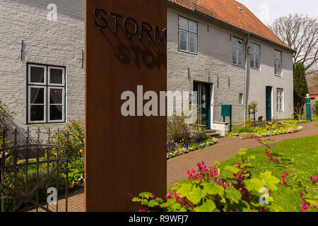 Theodor-Storm-Haus, casa del poeta e scrittore Theodor Storm (1817-1888), oggi un Storm-Museum, Husum, Frisia settentrionale, Schleswig-Holstein, Germania Foto Stock