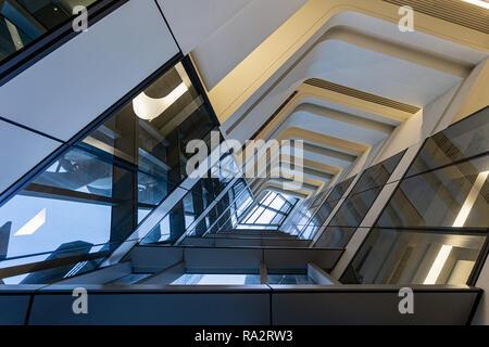 Interno del Jockey Club Torre di innovazione a Hong Kong Polytechnic University Foto Stock