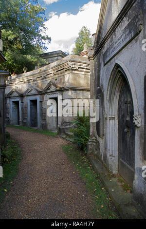 Cerchio di tombe del Libano ad ovest del cimitero di Highgate Londra Inghilterra Foto Stock