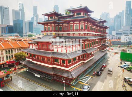 Dente del Buddha reliquia tempio in Singapore in una giornata di sole