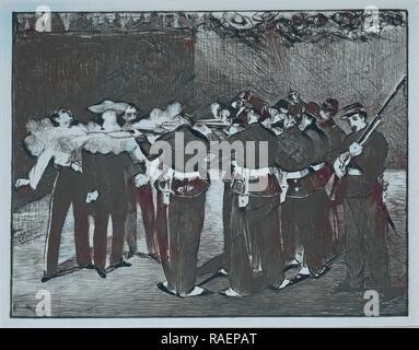 L'esecuzione dell'Imperatore Massimiliano, 1867, Edouard Mane. Reinventato da Gibon. Arte Classica con un tocco di moderno reinventato Foto Stock