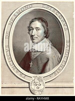 Robert Nanteuil (francese, 1623 - 1678). Francois de Nesmond, 1663. Incisione e attacco. . Reinventato