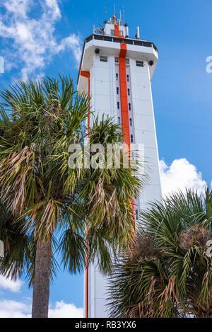 La torre di agrumi, costruito nel 1956 come una torre di osservazione sopra Central Florida i vasti agrumeti, in Clermont, Florida. (USA) Foto Stock