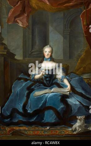 La principessa Marie Adélaïde della Francia (1732-1800). Museo: Musee du Louvre di Parigi. Autore: NATTIER JEAN-MARC. Foto Stock