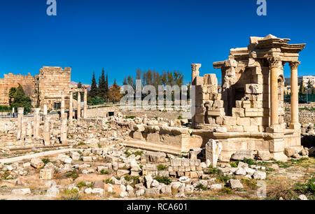 Il Tempio di Venere a Baalbek, Libano Foto Stock