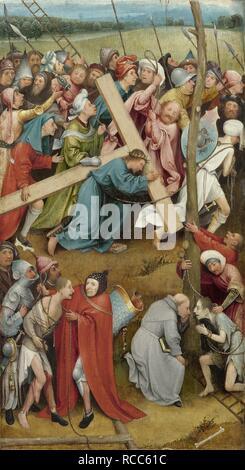 Cristo che porta la croce. Museo: Museo di Storia dell'arte, Vienne. Autore: Bosch Hieronymus. Foto Stock