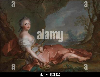 La principessa Marie Adélaïde della Francia (1732-1800) come Diana. Museo: Palazzo Pitti, Firenze. Autore: NATTIER JEAN-MARC. Foto Stock