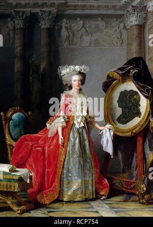 La principessa Marie Adélaïde della Francia (1732-1800). Museo: il Musée de l'Histoire de France, Château de Versailles. Autore: LABILLE-GUIARD, Adelaide. Foto Stock