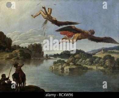 La caduta di Icaro. Museo : Museo di Capodimonte, Napoli. Autore: saraceni, Carlo. Foto Stock