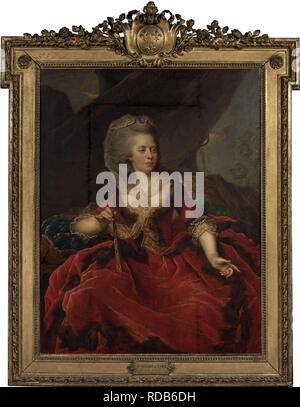Ritratto della principessa Marie Adélaïde della Francia (1732-1800). Museo: Collezione privata. Autore: HEINSIUS, JOHANN ERNST. Foto Stock