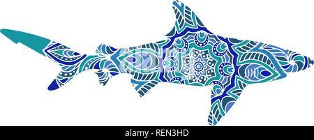 Libro da colorare con la balena illustrazione vettoriale - Disegni in bianco per la colorazione ...