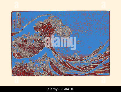 Katsushika Hokusai , Kanagawa oki nami ura (in bene della grande onda off Kanagawa), dalla serie.jpg - RG04T8 Foto Stock