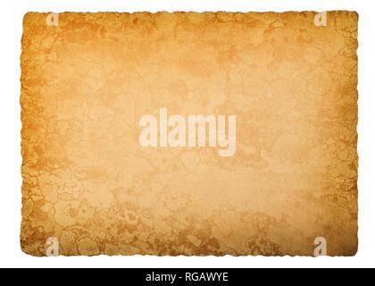 Vecchia carta isolato su sfondo bianco Foto Stock