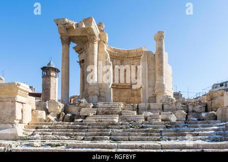 Tempio di Venere, Heliopolis rovine romane, Baalbek, Libano Foto Stock