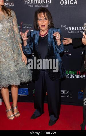 Los Angeles, Stati Uniti d'America. Il 30 gennaio, 2019. L'attrice Claudia Cardinale assiste 'Cattura Italia - Los Angeles' festival di film italiani Institute on gennaio 30, 2019 a Los Angeles. Credito: Vladimir Yazev/Alamy Live News.