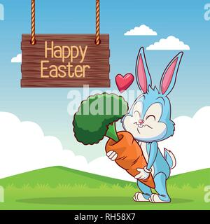 Felice Pasqua card Foto Stock