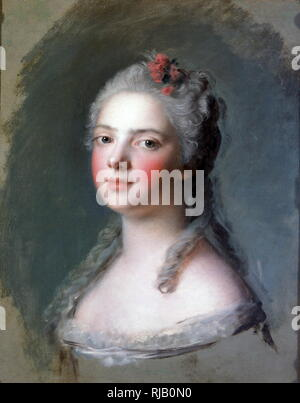 Madame Adelaide de France, 1750, da Jean-Marc Nattier (1685-1766); matita blu: Marie Adelaide de France, (1732 - 1800), era una principessa francese, la quarta figlia e il sesto figlio di Re Luigi XV di Francia e la sua consorte, Marie Leszczynska. Foto Stock