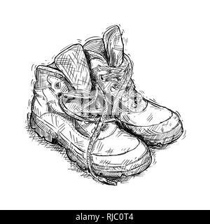 Coppia di indossare scarpe da trekking Foto & Immagine Stock