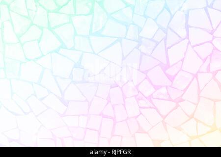 Un mosaico irregolare della parete texture con piastrelle bianche