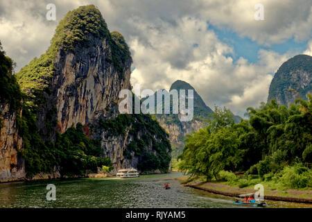 Guilin crociera sul fiume li, Cina
