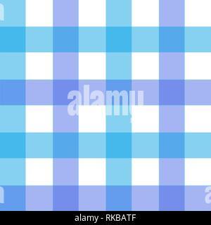 Blue Gingham pattern. Texture da rhombus piazze per - plaid, tovaglie, abiti, camicie, abiti, carta, biancheria da letto, coperte, piumini e altri Foto Stock