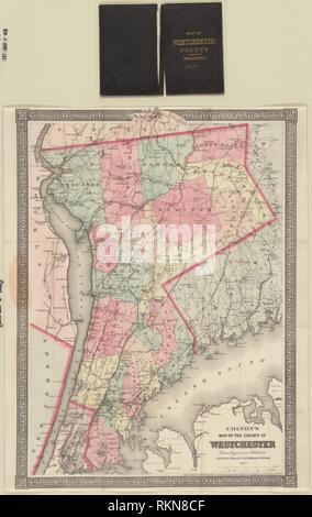 Colton la mappa della contea di Westchester titolo aggiuntivo: Mappa della contea di Westchester titolo aggiuntivo: Mappa di Westchester County. G.W. & C.B.