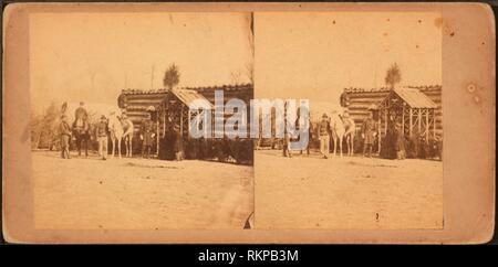 Col. Lansing presso la sede centrale, xvii New York Hales Hill, Va. Robert N. Dennis raccolta di vista stereoscopica Stati Uniti membri Virginia. Foto Stock