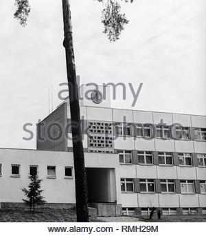 Costruzione dell'ospedale centrale di l'esercito popolare nazionale, NVA, a Bad Saarow nel Land di Brandeburgo sul territorio della ex Repubblica democratica tedesca, la Repubblica democratica tedesca. Foto Stock