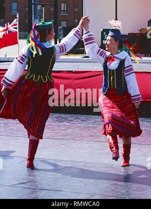 Ballerini ucraini,Saskatchewan, Canada Foto Stock