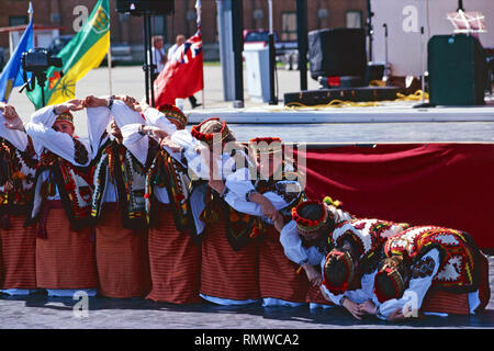 Ukrainian dance troupe,Saskatchewan, Canada Foto Stock