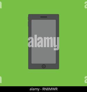 Smartphone Al Neon Di Sfondo Verde Illustrazione Vettoriale