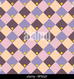 Geometrica astratta rhombus seamless pattern. Colore sfondo del vettore. Foto Stock